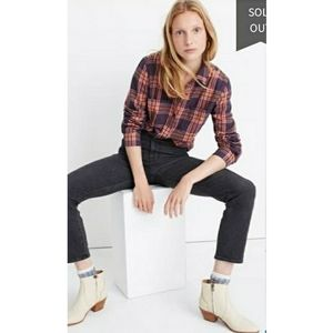 NWT Madewell CLASSIC EX BF in Lorimer Plaid M